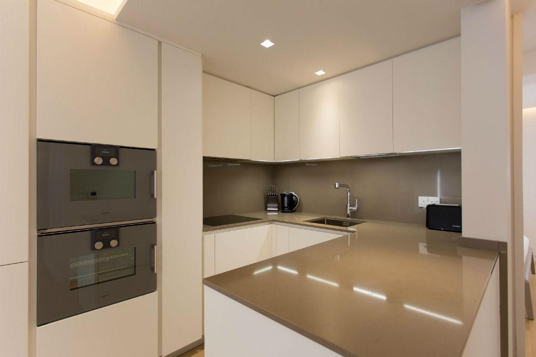 Luxury Gaggenau fitted kitchen in Soho