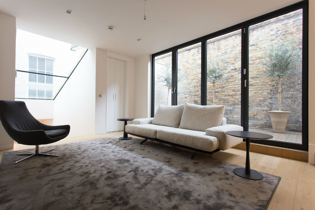 Soho two bedroom apartments reception room with high-end furnighings