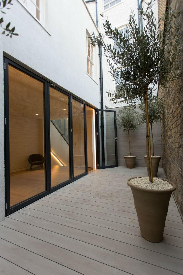 Decked terrace in Soho London
