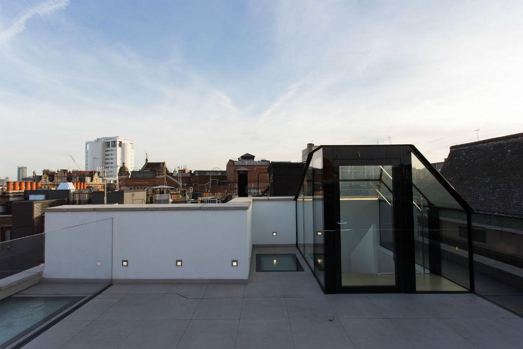 Rooftop terrace overlooking Soho London