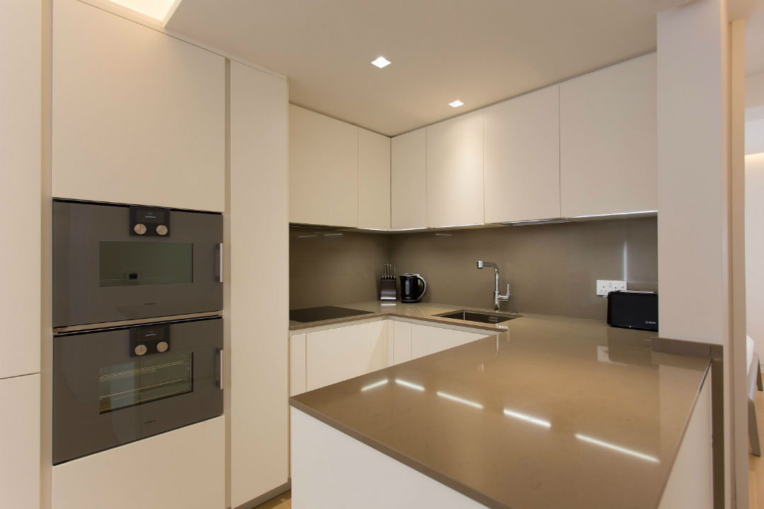 Luxury Gaggenau fitted kitchen in Soho