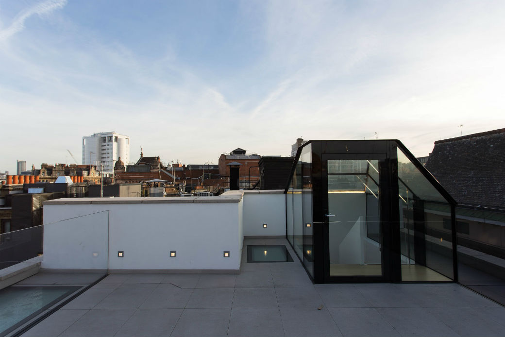 Rooftop terrace overlooking Soho London