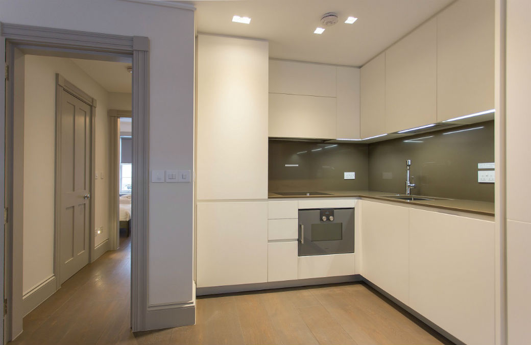 Luxury Gaggenau fitted kitchen in Greek Street Soho London