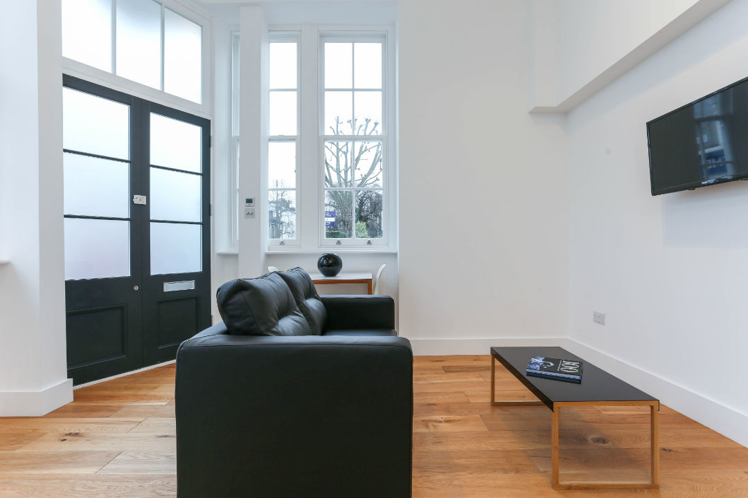 Bright open plan reception room in St Johns Wood London
